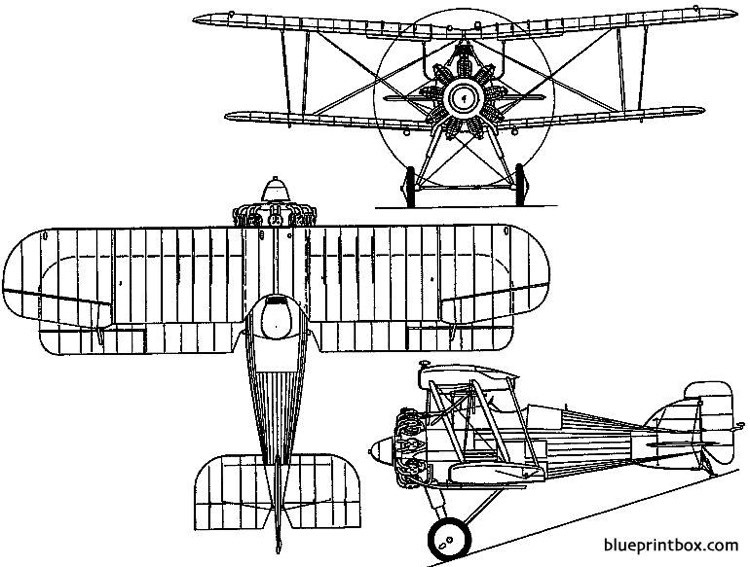 gloster gamecock 1924 england model airplane plan