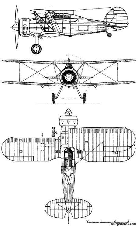 gloster gladiator mk i model airplane plan