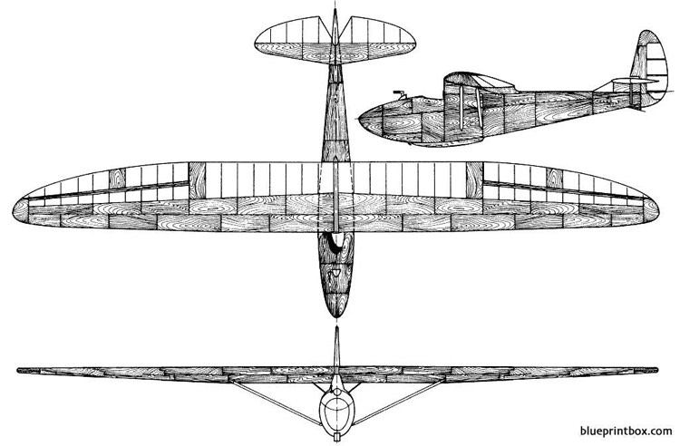gribovskyc 9 model airplane plan