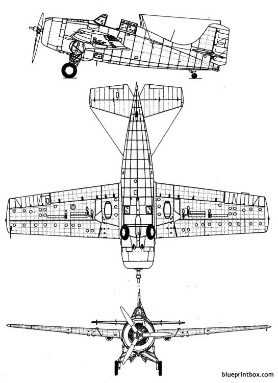 grumman f4f wildcat 2 model airplane plan