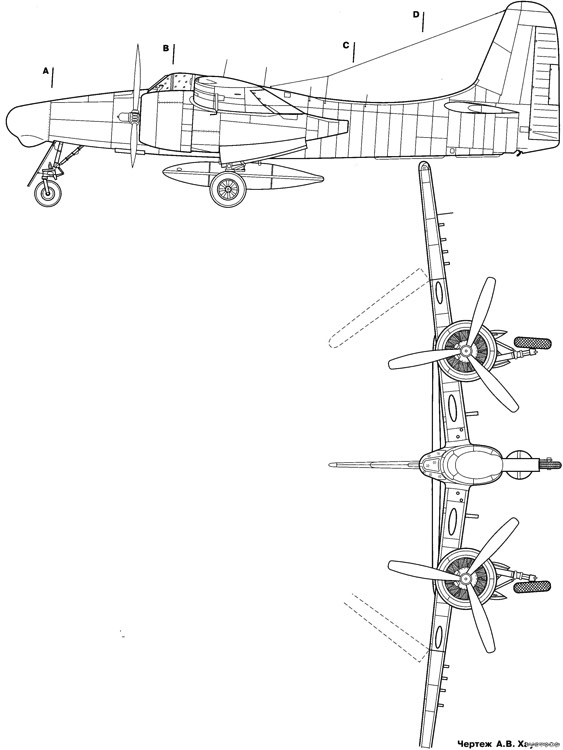 grumman f7f 3n tigercat model airplane plan