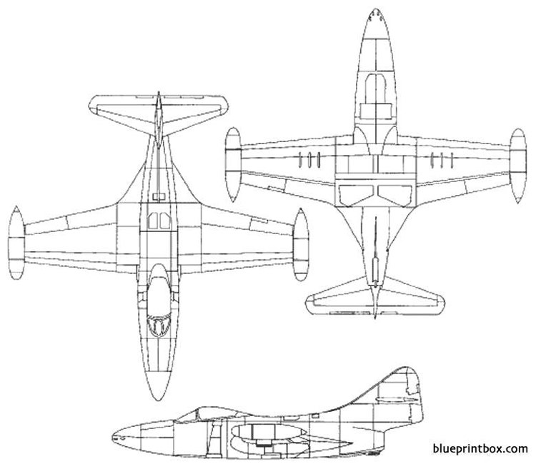 grumman f9f 2 panther 1 model airplane plan