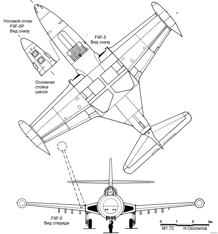 grumman f9f 5 panter model airplane plan
