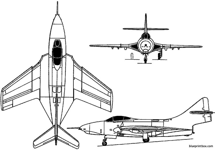 grumman f9f cougar 1951 usa model airplane plan