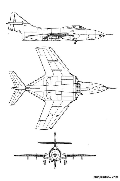 grumman f9j cougar model airplane plan
