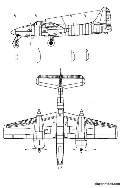 grumman f 7f1 tigercat 2 model airplane plan