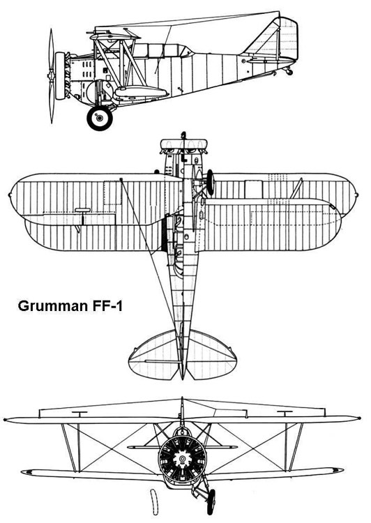 grumman ff1 3v model airplane plan