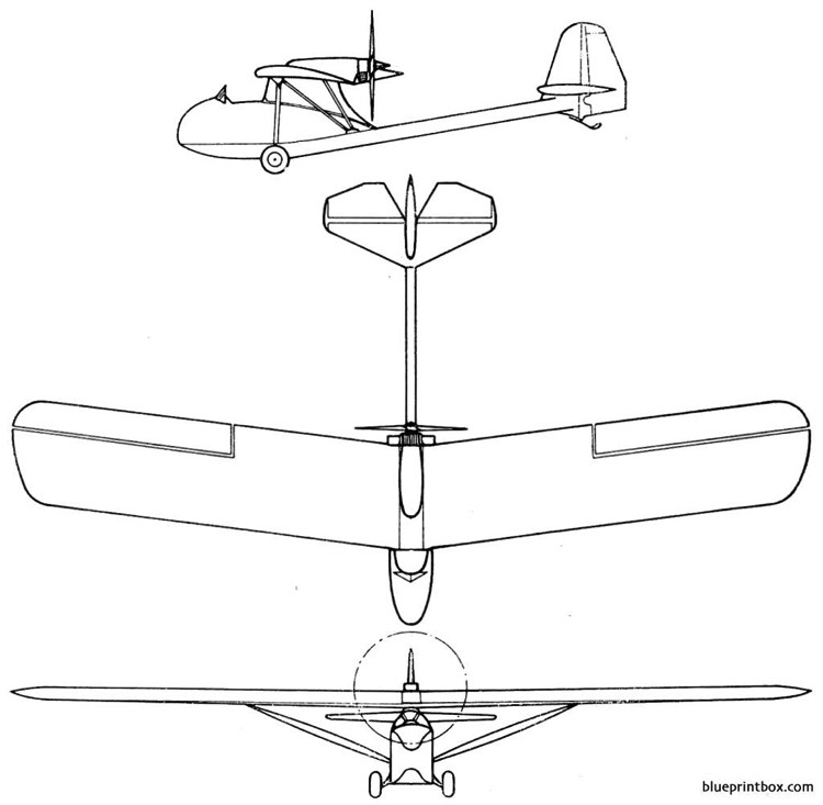 gruse bo 15 1 model airplane plan