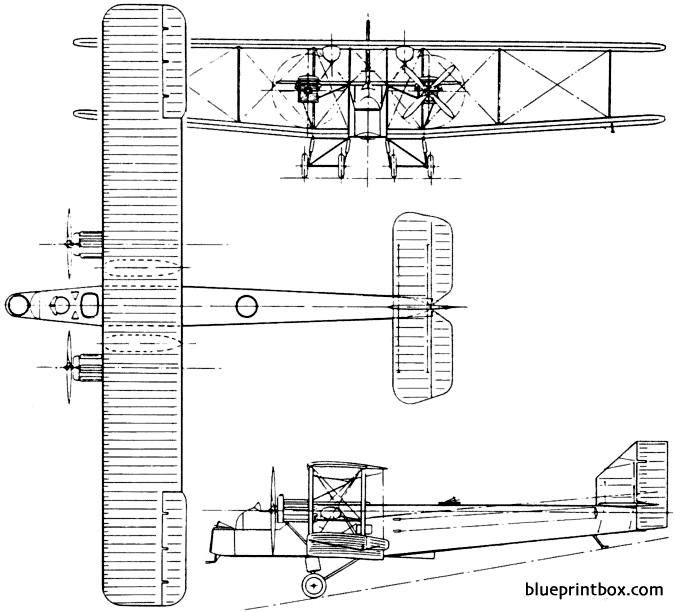 handley page hp24 hyderabad 1923 england model airplane plan