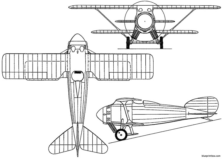 hanriot h26 1923 france model airplane plan