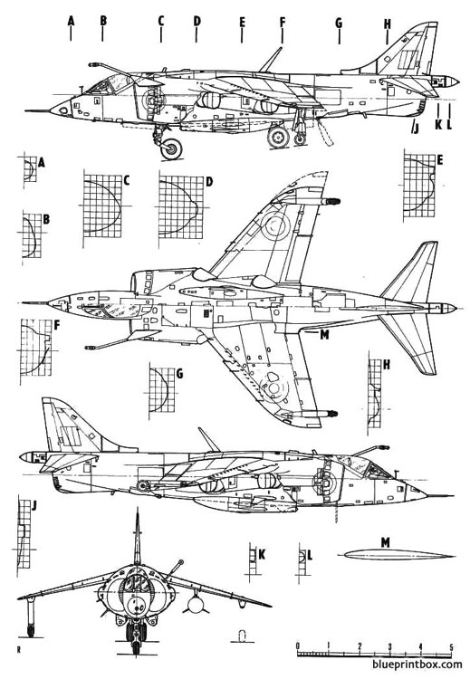 harrier gr1 model airplane plan