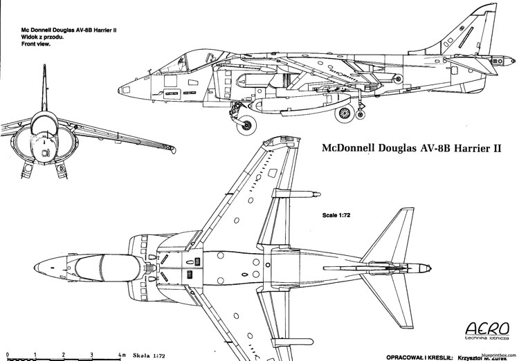 hawker harrier 6 model airplane plan