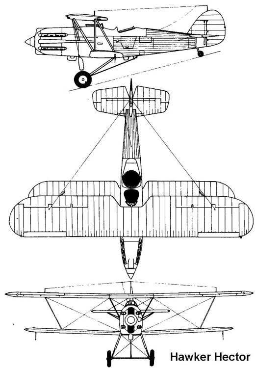 hawker hector 3v model airplane plan