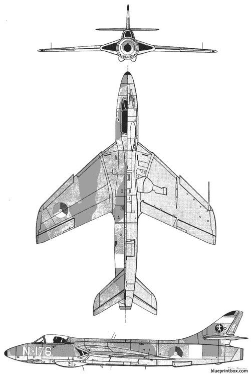 hawker hunter 2 model airplane plan