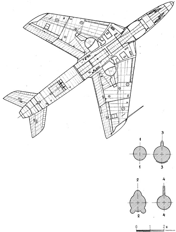 hawker hunter fmk5 model airplane plan