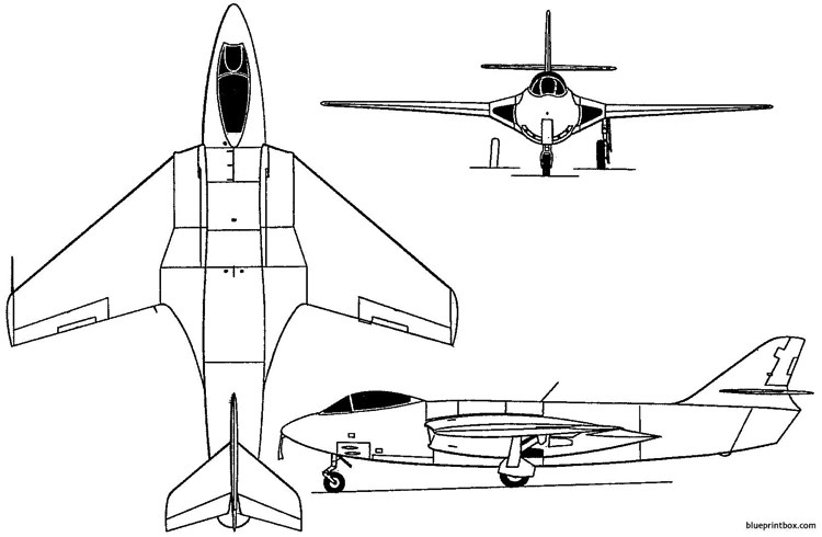 hawker p1081 1950 england model airplane plan