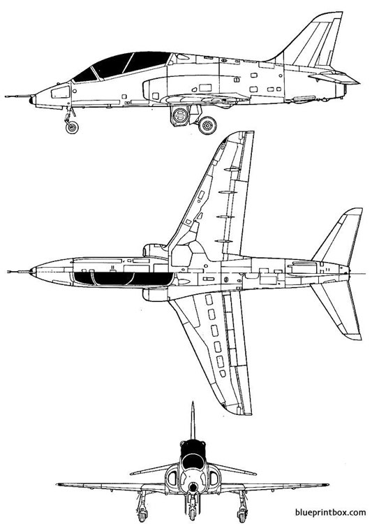 hawker siddeley hs 1182 hawk model airplane plan