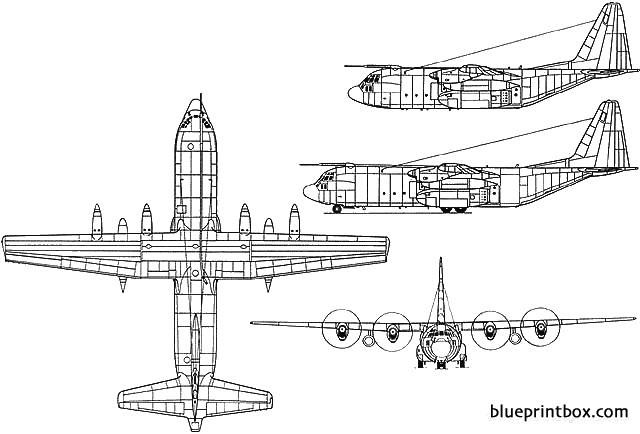 hercules c1 model airplane plan
