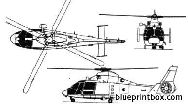 hh 65a dolphin 2 model airplane plan