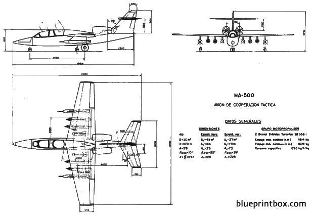 hispano aviacion ha 500 alacran model airplane plan