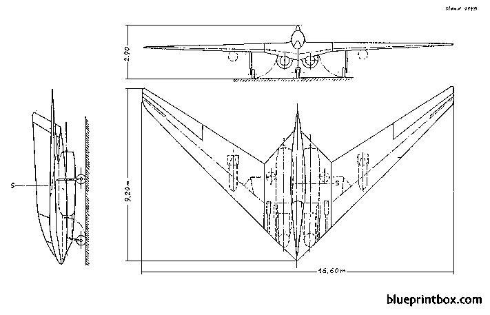 horten h ix 2 model airplane plan