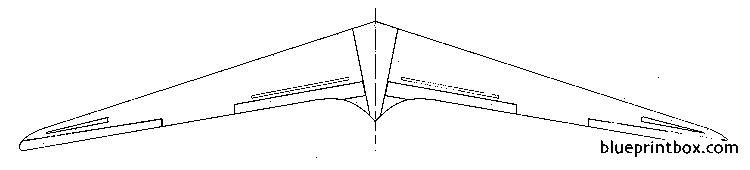 horten h xiv model airplane plan
