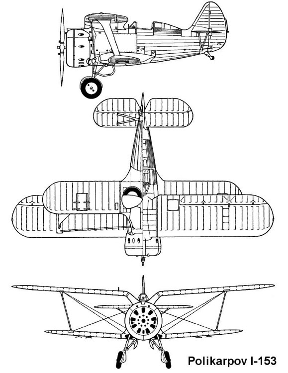 i153 3v model airplane plan