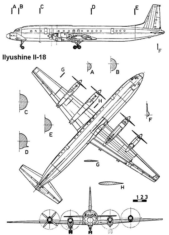 ilyushine18 3v model airplane plan