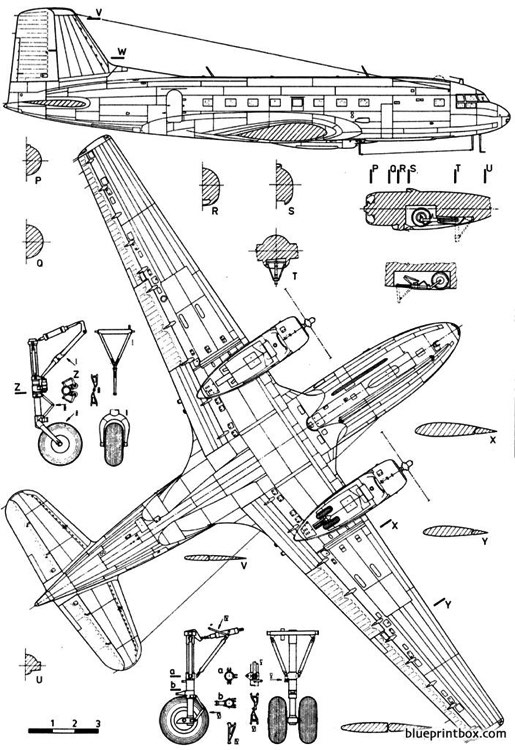 ilyushine il 14 crate 2 model airplane plan