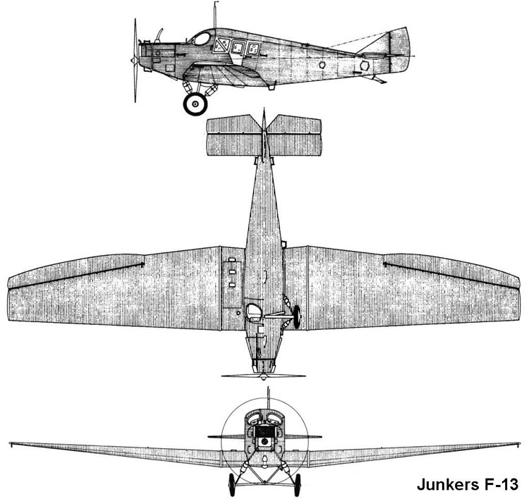 junkers f13 3v model airplane plan