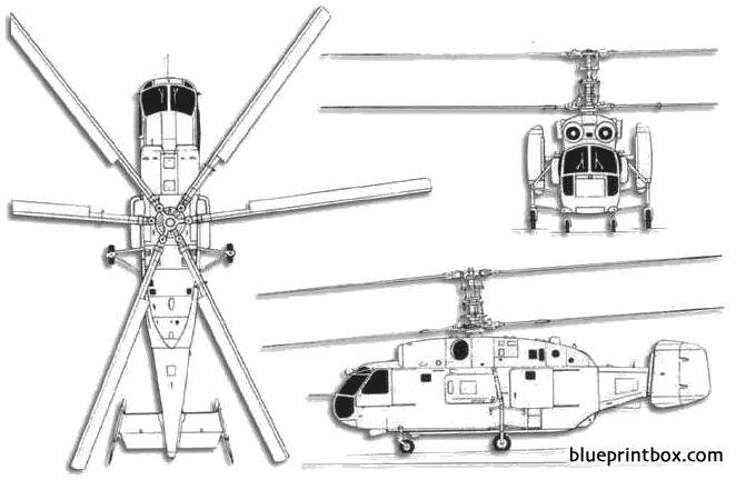 kamov ka 27 helix model airplane plan