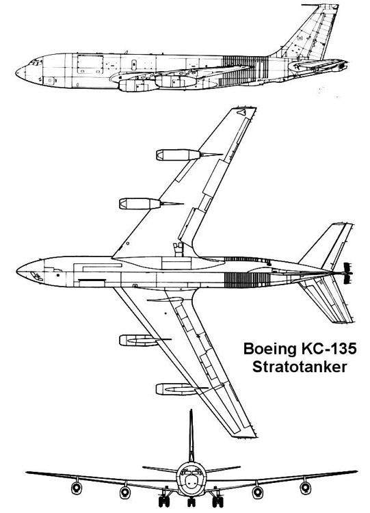 kc135 3v model airplane plan
