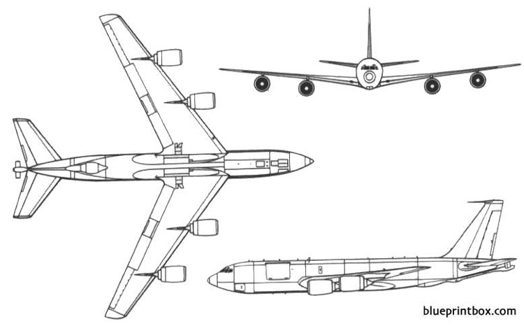 kc 135 stratotanker model airplane plan