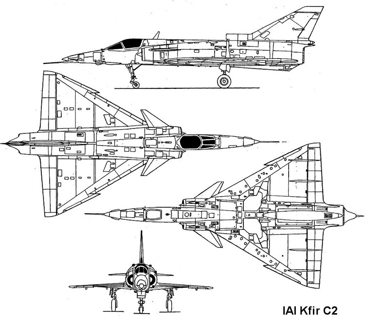 kfir 3v model airplane plan