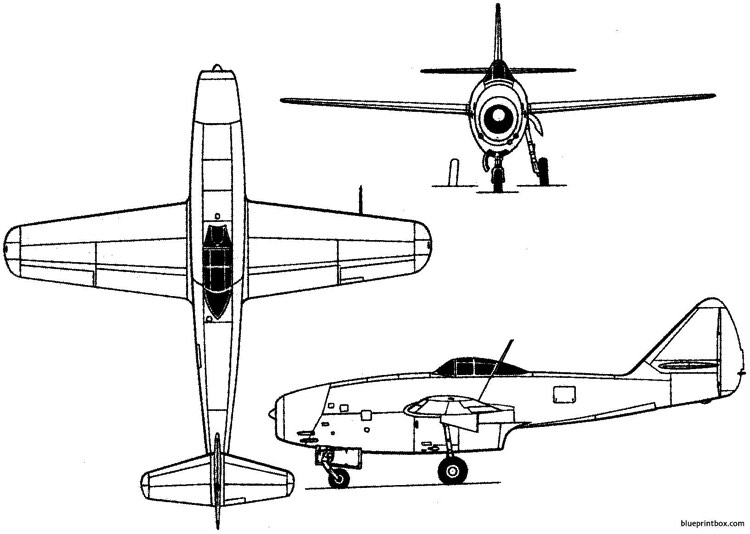 lavochkin la 174tk 1948 russia model airplane plan