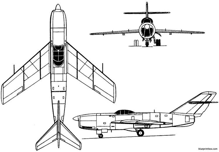 lavochkin la 200 1949 russia model airplane plan