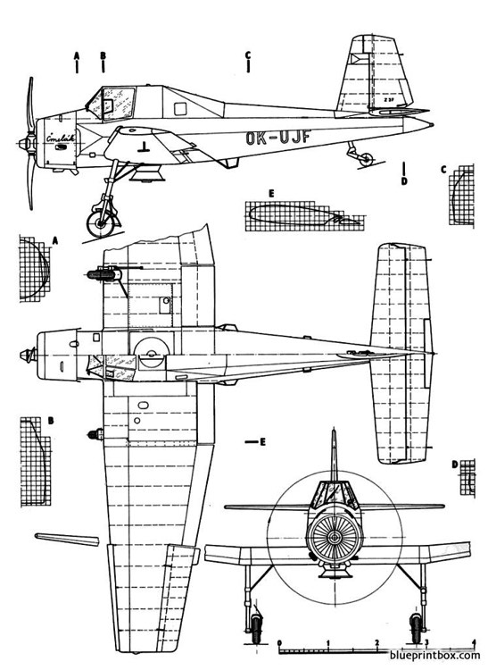 letov z 37cmelak model airplane plan