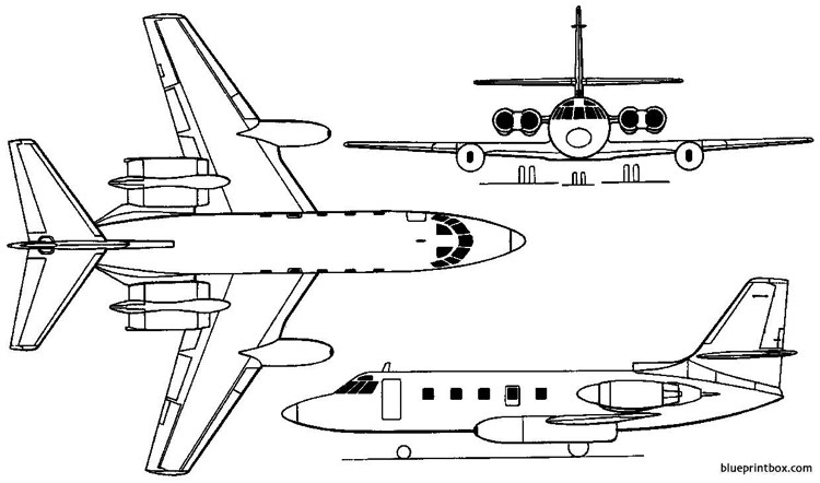 lockheed 1329 jetstar i  ii 1957 usa model airplane plan