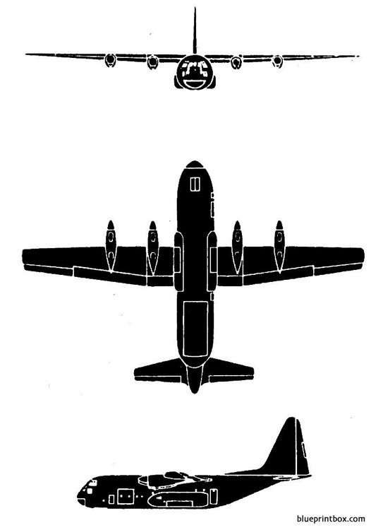 lockheed c 130 hercules 2 model airplane plan