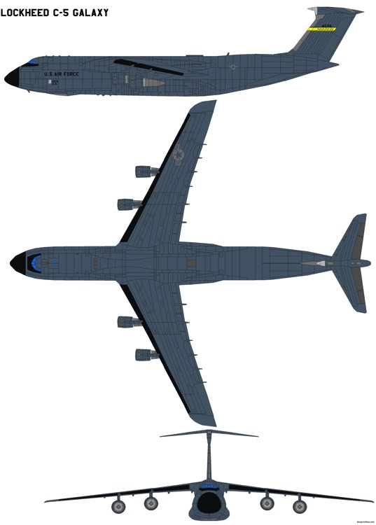 lockheed c 5 galaxy model airplane plan
