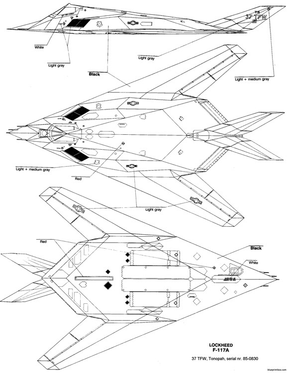 Lockheed F 117 Nighthawk 5 Plans Aerofred Download