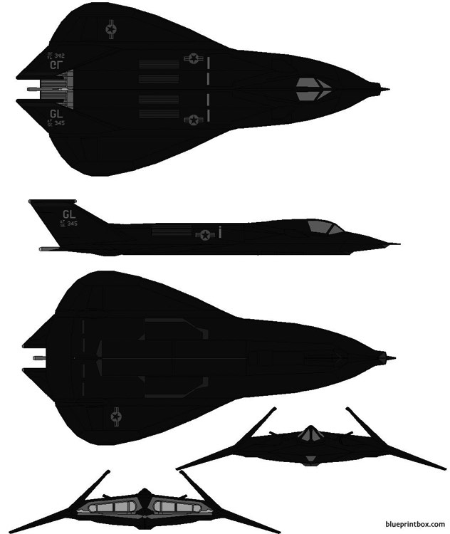 lockheed f 19 stealth fighter model airplane plan