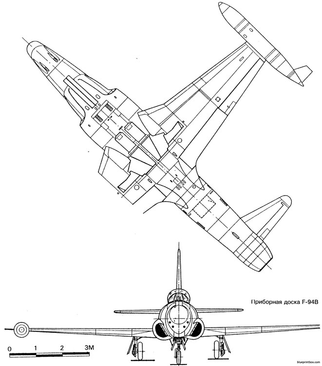 lockheed f 94 starfire 2 2 model airplane plan