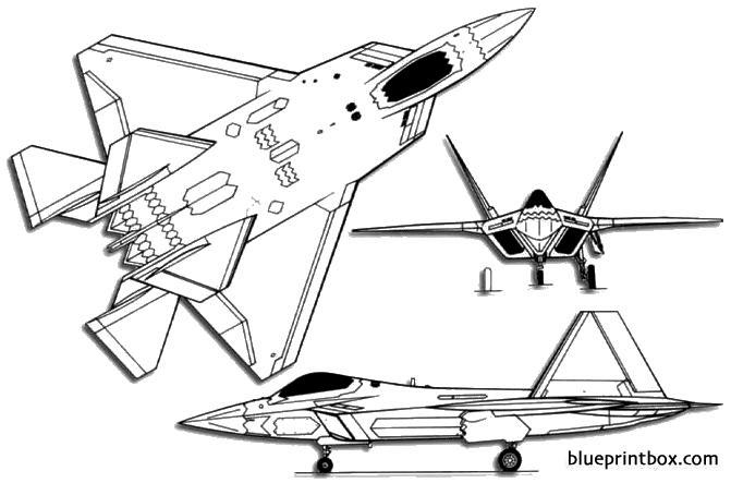 lockheed martin boeing f 22 raptor model airplane plan