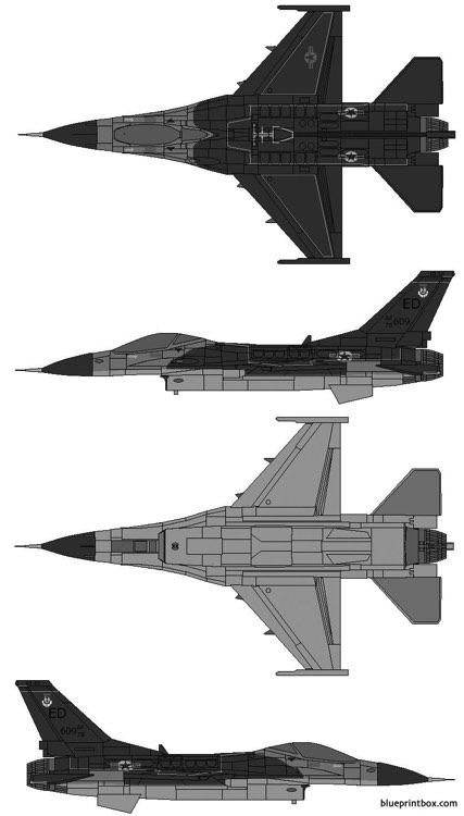 lockheed martin f 16 fighting falcon model airplane plan
