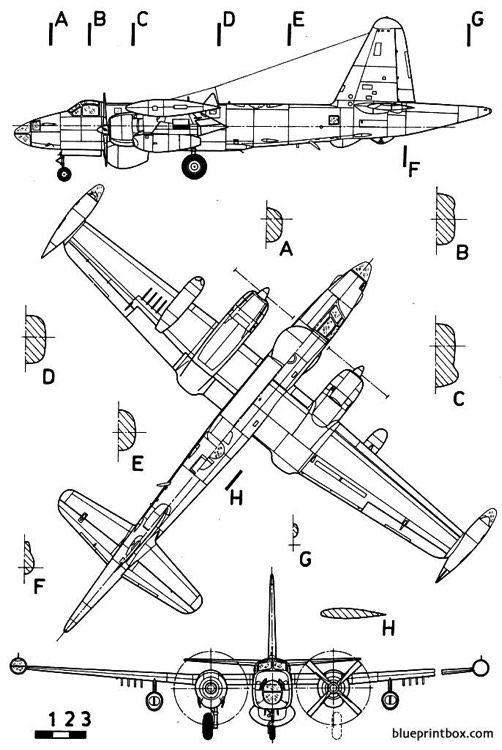 lockheed p2v7 neptune model airplane plan