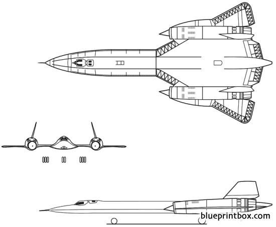 lockheed sr 71 blackbird model airplane plan