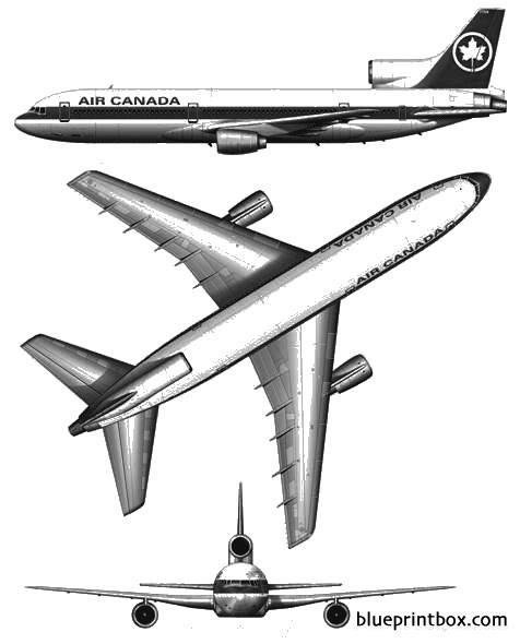 lockheed tristar l 1011 100 2 model airplane plan