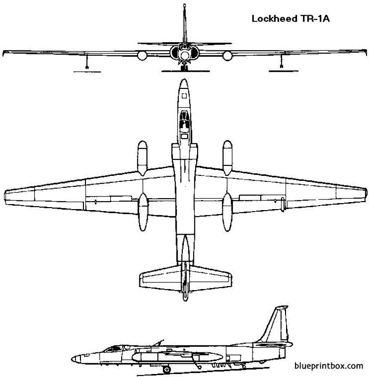 lockheed u 2 1955 usa model airplane plan