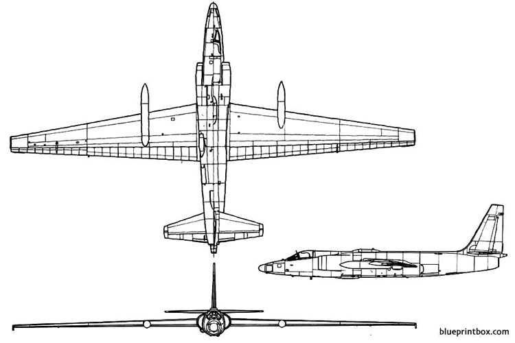 lockheed u 2b model airplane plan